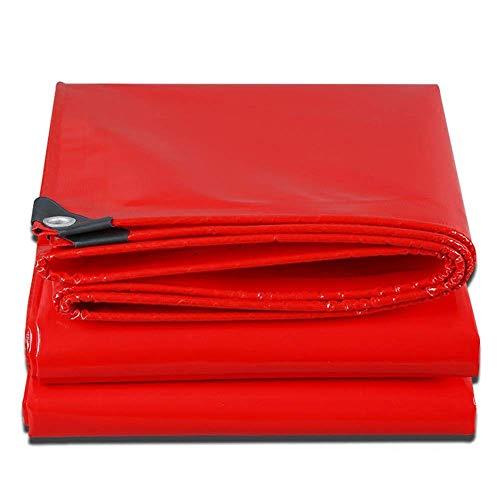 FREIHE.gpf Bâche Heavy Duty Épaississement Double Tissage extérieur Tissu Anti-Pluie Quatre Saisons Disponibles 0.45mm 500g / m Rouge - 100% étanche et protégé Contre Les Rayons UV (Taille: 3x4M)