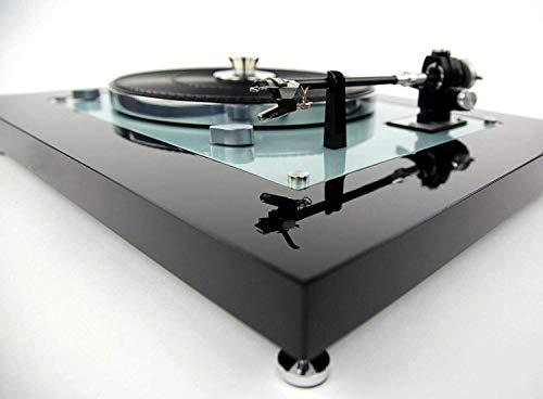 Restaurierter & Modifizierter Thorens TD 145 MKII Plattenspieler Turntable schwarz, Ice Blue metallic