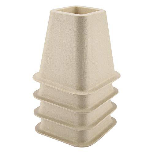 Cocoarm Bed Riser Table Riser Stuhl oder Sofa Riser Uping Bed Risers Verstellbare Riser für Tisch- oder Möbel-Riser Imitation Porzellan-Möbel-Riser für Schreibtisch Tisch 4-TLG
