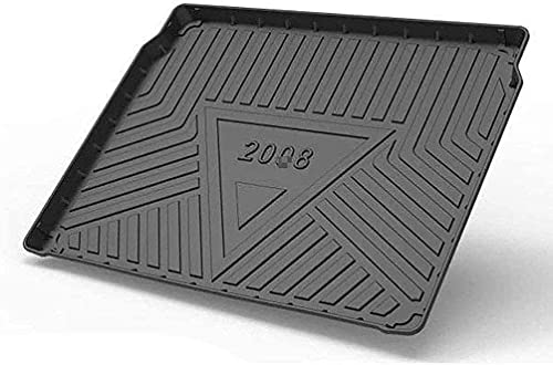 YYYYDS Voiture Tapis Coffre pour Peugeot 2008 2020-2021,Caoutchouc Bac De Protection,ImperméAble AntidéRapant RéSistant Rayures Tapis De Coffre Protetion,Voiture Interior Accessories