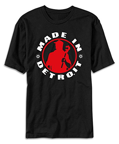 Made In Detroit Shirt MID - Black with Red - XL