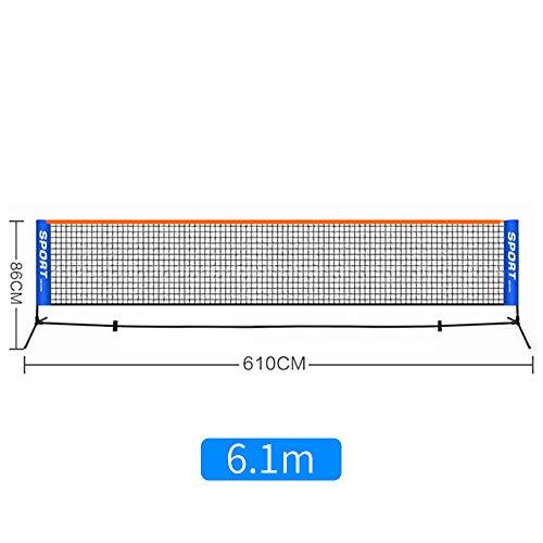 YUYDYU Tragbares Badminton-Netz-Set - Netz für Tennis, Fussballtennis, Kinder-Volleyball - Leicht aufzubauendes Nylon-Sportnetz - für drinnen oder draussen