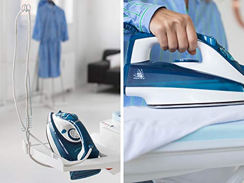 Leifheit AirActive Express M Ironing Board with Cover, for Ironing with a Steam Generator Iron, Suction and Inflation Function, White, 130 x 45 cm