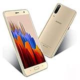 Smartphone Offerta Del Giorno 5.5 pollici 16GB ROM/128GB Espandibili Android 9.0 Economici Telefono 4800mAh Doppia Fotocamera Quad Core Due SIM Cellulari Offerte Bluetooth WIFI Sblocco Facciale(Oro)