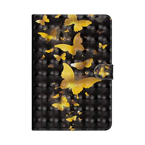 QPOLLY - Funda de piel sintética con tapa para Samsung Galaxy Tab S2 8.0 SM-T710/T715/T719, 3 Papillon Or