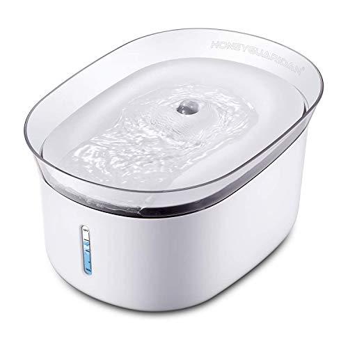honeyguaridan W18 Automatischer Haustier Wasserbrunnen für Ihre Hunde und Katzen, Kapazität 2 Liter, 1 kg