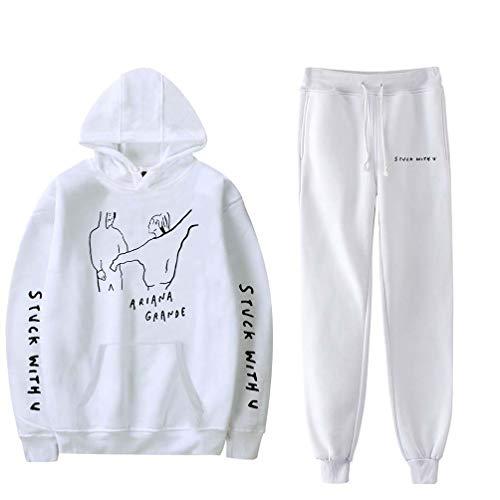 Xdsy Ariana Grande Pull à Capuche imprimé Autour du Costume Bieber + Leggings,white5,XS
