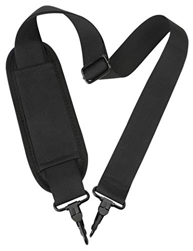 Shoulder Strap, 52' Universal Replacement Laptop Shoulder Strap Luggage Duffel Bag Strap Adjustable Comfortable Belt with Metal Hooks for Briefcase Computer Messenger Bag Laptop Notebook Case,Black