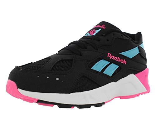 Reebok Mens Aztrek Faux Suede Low Top Running Shoes Black 8 Medium (D)