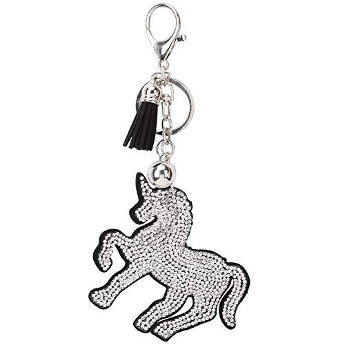 HEEPDD sleutelhanger, diamant schilderij sleutelhanger hanger kleurrijk kristal sleutelhanger voor vrouwen tas mobiele telefoon auto (paard volle diamanten)