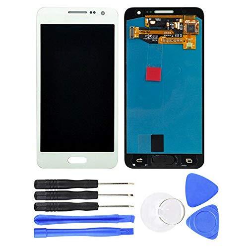 Ersatzdisplay für Galaxy A3 2015 A300 SM-A300FU, LCD-Display, Digitizer Rahmen, komplettes Reparatur-Set mit Display für beschädigte, rissige und zerbrochene Telefone weiß