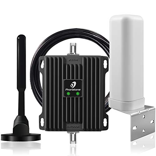 Cell Phone Signal Booster for RV, Motorhome, Camper, Boat, Cabin and Trailer- Dual Band 12/13/17 700Mhz Mobile Cellular Repeater Kit Boosts 4G Data and Volte for Multiple Users