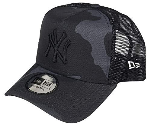 New Era New York Yankees A Frame Adjustable Trucker Cap Camo Essential, Adjustable, Dark Camo