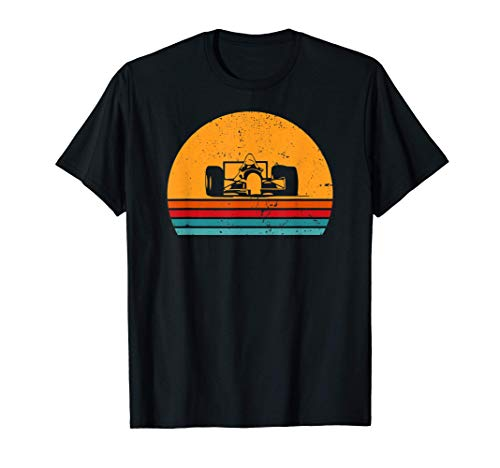 Formel Rennwagen Retro Sonnenuntergang Formel Rennwagen T-Shirt