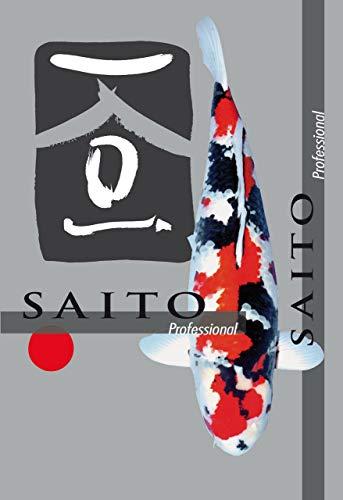 Saito Professional Koifutter, Premium Schwimmfutter der Spitzenklasse für optimales Wachstum, leuchtende Farben und eine tolle Körperform bei Koi Aller Varietäten, 2kg Beutel, 3mm Koipellets