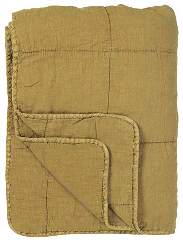 IB Laursen - Quilt - Tagesdecke - Bettüberwurf - Mustard/gelb - Baumwolle - 130 x 180 cm