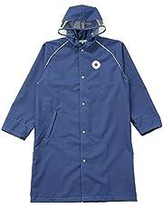 小川(Ogawa) キッズレインコート 子供 男の子 女の子 140cm CONVERSE コンバース ランドセル リュックの上から着れる 調整タック付 リュック型収納袋付 20098 ネイビー