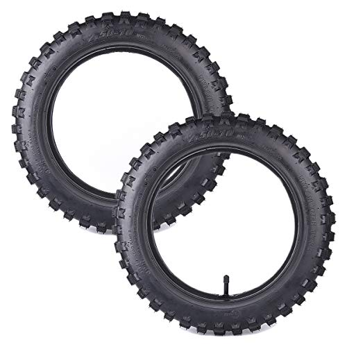 2.50-10 Replacement Tire with Innertube Inner Tube Compatible with XR50 CRF 50 PW50 Motorcycle Pit Dirt Bike 2 Pack of