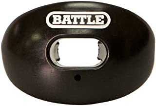 Battle Oxygen Lip Protector Mouthguard with Convertible Strap – Football and Sports Mouth Guard – Maximum Oxygen Supply – Mouthpiece Fits With or Without Braces – Impact Shield Covers Lips and Teeth