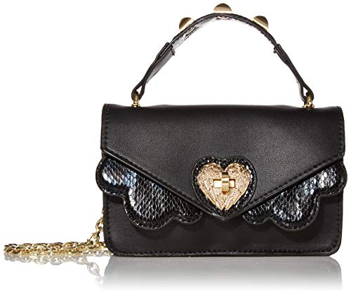 Betsey Johnson Damen The Clouds Mini Crossbody, schwarz, Einheitsgröße