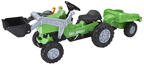 BIG 800056525 - Jimmy-Loader, Trailer Kindertraktor, grün