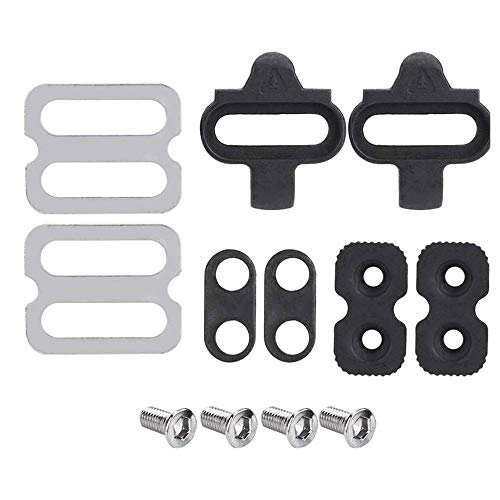 N\A Bike Cleats Self-locking Cycling Pedal Cleat Indoor Cycling & Mountain Bike Accessories Bike Cleat Set for Shimano SPD & Look Shoes