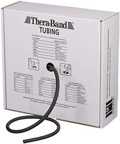 Tubos Thera-Band, banda de resistencia negra, banda de fitness para tubos profesional
