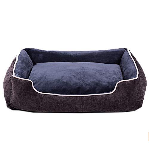 DWCAA Superzacht ademend hondenbed, waterafstotende hondensofa met afwasbare overtrek hondenmand robuuste huisdiermat, L(70x52x15cm), marineblauw