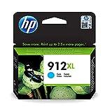 HP 912XL 3YL81AE, Cian, Cartucho de Tinta de Alta Capacidad Original, Compatible con impresoras de inyección de Tinta HP OfficeJet Pro Series 8010; 8020