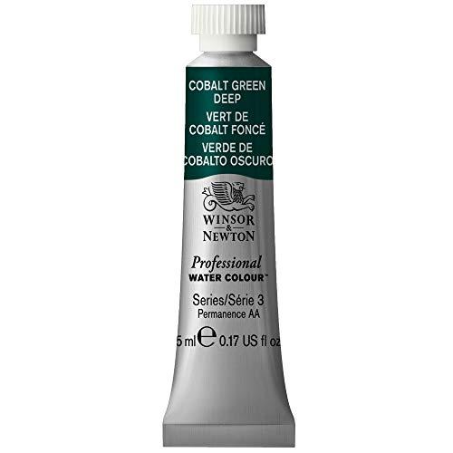 Winsor & Newton - Acuarela Profesional, Tubo 5 mL, Verde Cobalto Oscuro
