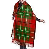 Bufanda, Mantón y Envoltura Bufanda Para Mujer Cálido Invierno Clan Cumming Tartan Impresión Clásica Borlas Manta