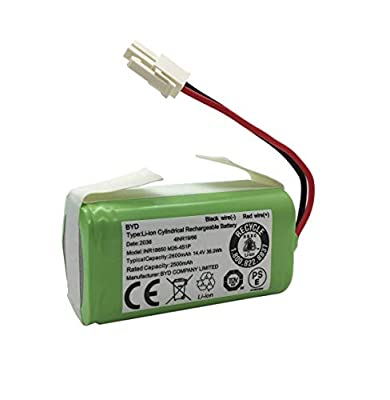 AnhoTech Replacement Battery Compatible with ILIFE A4s, A4, A6, A9, V7, V7s, V7s Pro Robotic Vacuum Cleaners, 2600mAh, 14.4v/14.8v