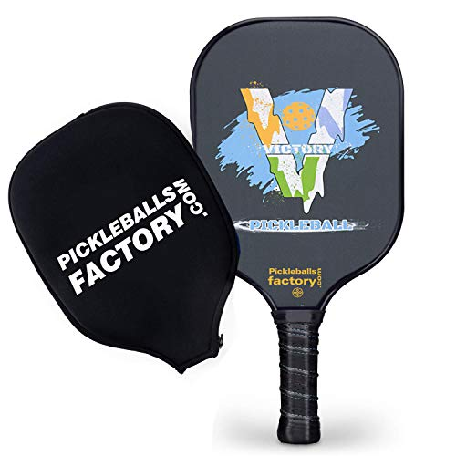 Pickleball Paddles, Pickleball Paddle, Paddle Ball, Victory Unique Tennis Racket Cover in Comfort Court Grip Outdoor/Indoor Ball Game for Intermediate Players/Men/Power/Hard Hitters