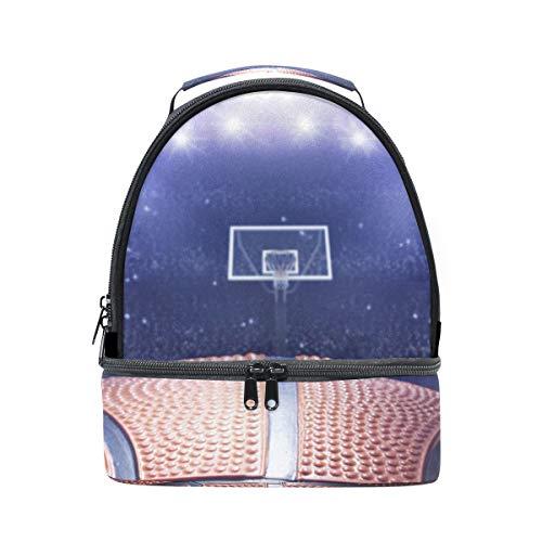 épaule double Sac à déjeuner 3d Sport basket-ball Arena Cooler Sangle réglable pour pique-nique
