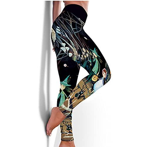 ArcherWlh Leggings Mujer Push Up,Nuevos Pantalones de Yoga Femenina Europea y Americana Medias rápidas Caderas Deportes Aptitud Pantalones 3D impresión de yoga-Yjck-17_SG