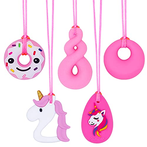 Select Chew Necklaces for Sensory Kids Girls - Silicone Chew Pendant...