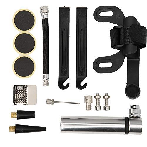 Reparación de neumáticos de bicicleta, kit de reparación de neumáticos de bicicleta cómodo de usar, accesorio de reparación de neumáticos de bicicletas de montaña para bicicletas de montaña(Silver)