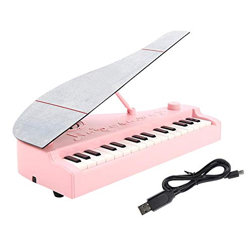 Mini teclado de juguete, RiToEasysports Kids Digital USB Powered 31 teclas teclado Bluetooth electrónico juguete Mini Piano, rosa