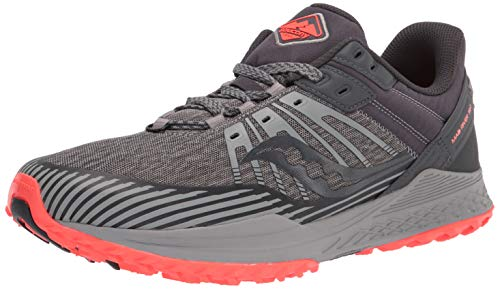 Saucony Men's MAD River TR 2 Trail Running Shoe, Gray/Vizired, 10.5