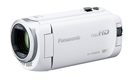 Panasonic HDビデオカメラ W585M 64GB ワイプ撮り 高倍率90倍ズーム ホワイト HC-W585M-W
