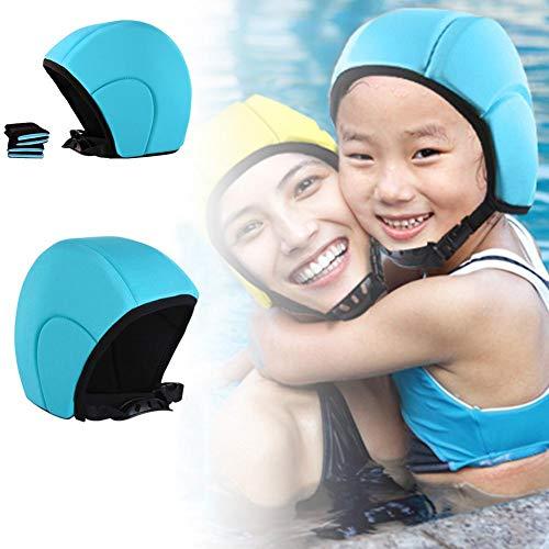 Juego de 3 gorros de natación flotantes y conjunto de cinturón de rodilla, gorro flotante para adultos, gorro flotante de natación Artefact para principiantes, niños