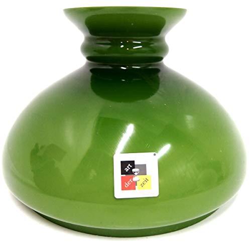 Petroleumlampenschirm 170 260 233 mm Glas grün Vestaschirm Ersatzglas Öllampe