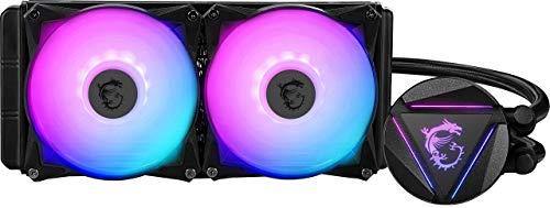 MSI MAG CORELIQUID 240R - Refrigeración Líquida AIO CPU, Radiador de 240, Bomba en el Radiador, 2 x 120 mm Ventiladores ARGB, Intel 1151/1200/2066, AMD AM4/AM2/AM3/FM2