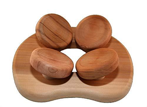 HaLu BV Sauna-Kopfstütze ergonomisch, Red Cedar Holz-Saunakissen