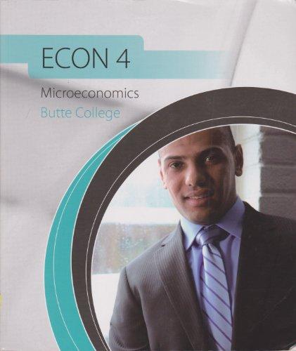 Econ 4: Microeconomics Butte College