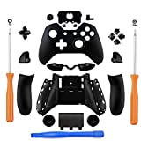 YICHUMY Replacement Controller Housing Shell Full Set Faceplates Buttons for Microsoft Xbox One Controller with 3.5 mm Headset Jack xbox one controller shell kit with 3.5 port (Black)