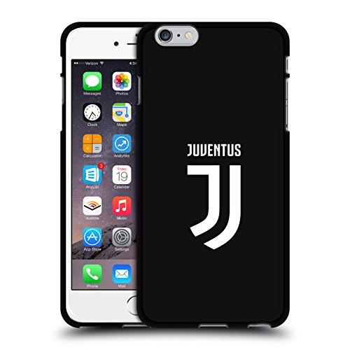 Offizielle Juventus Football Club Einfarbig Verschiedene Designs Schwarze Soft Gel Handyhülle Hülle Huelle kompatibel mit Apple iPhone 6 Plus/iPhone 6s Plus