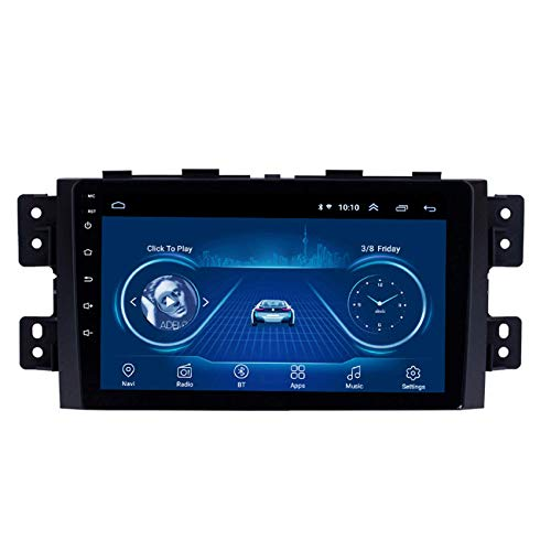 KLL Double DIN autoradio para Kia Borrego 2008-2016 Pantalla táctil HD 1080P Soporte Radio FM/RDS DSP Reproductor MP5 Controles del Volante Salida de Video(con cámara Trasera),WiFi,1+16G
