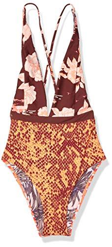 Maaji Women's Plunge Cheeky Cut, Orange, Large