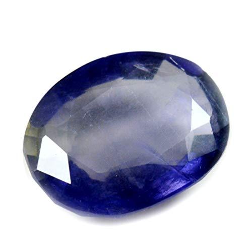 Gemsyogi 12X10 MM Piedra de Iolita Genuina Forma Ovalada Color Azul Corte facetado Venta al por Mayor de Piedras Preciosas Sueltas